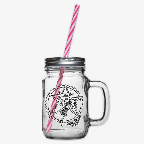 Flowergram - Glas med handtag och skruvlock