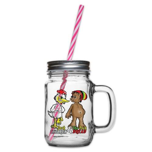 Jerk chickenPork Dread - Glass jar with handle and screw cap