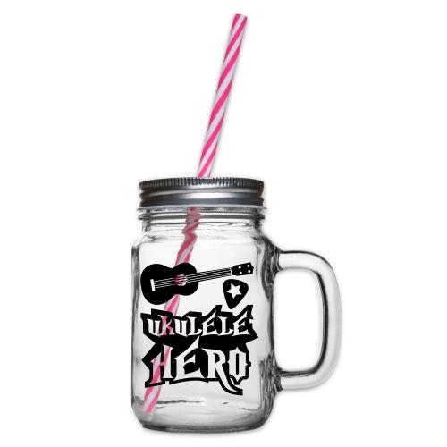 Ukelele Hero - Glass jar with handle and screw cap