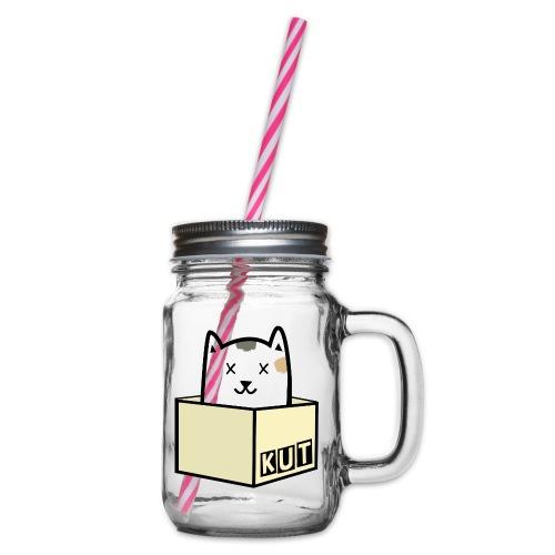 Kitten Los Default Colours - Drinkbeker met handvat en schroefdeksel