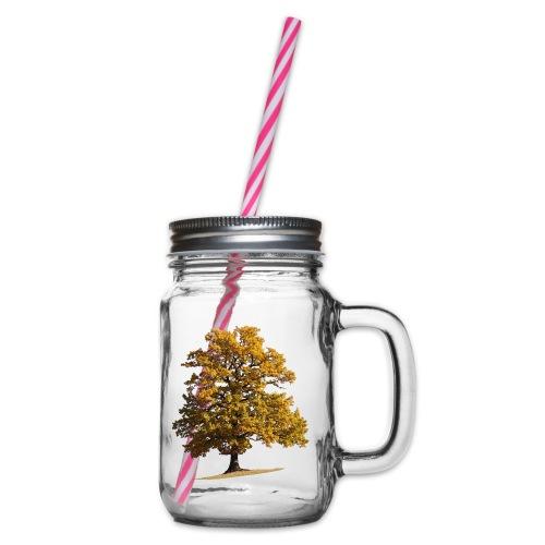 Herbst Herbstlaub Herbstbaum autumn - Henkelglas mit Schraubdeckel