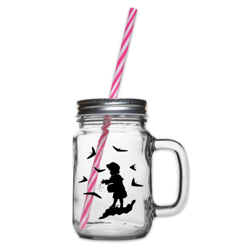 HG FEEDING WINGS - Glass jar with handle and screw cap