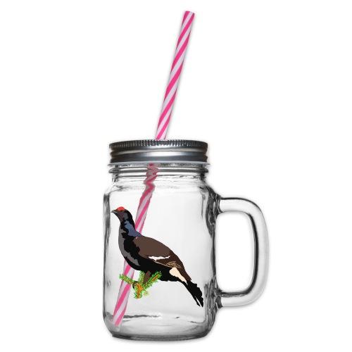 Birkhuhn - Henkelglas mit Schraubdeckel