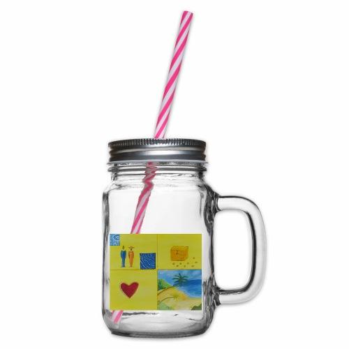 Viererwunsch - Henkelglas mit Schraubdeckel