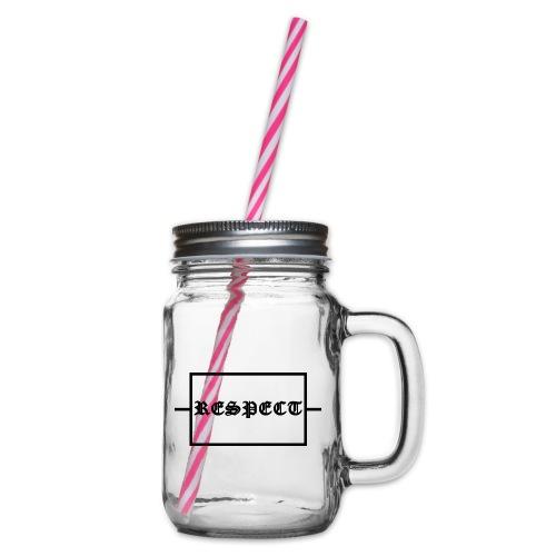 Widerstand für RESPECT - Henkelglas mit Schraubdeckel