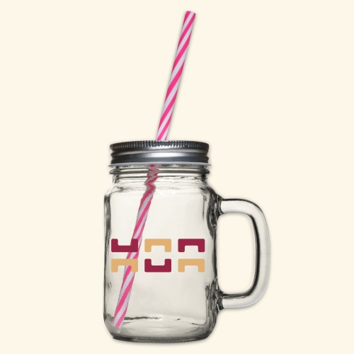 Hoa original logo v2 - Glass jar with handle and screw cap