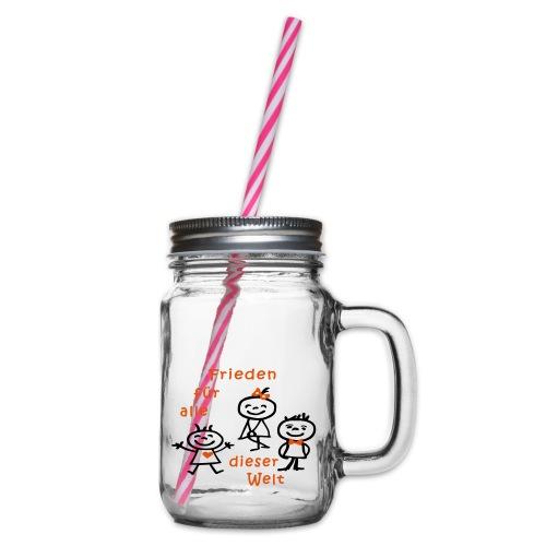 Kindertag, Childrens Day, Frieden - Henkelglas mit Schraubdeckel