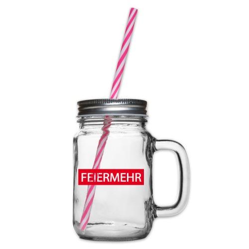 FEIERMEHR - Henkelglas mit Schraubdeckel