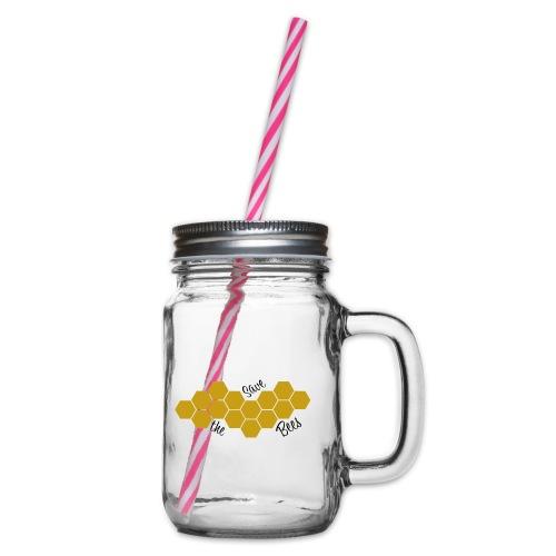 SAVE THE BEES! - Henkelglas mit Schraubdeckel
