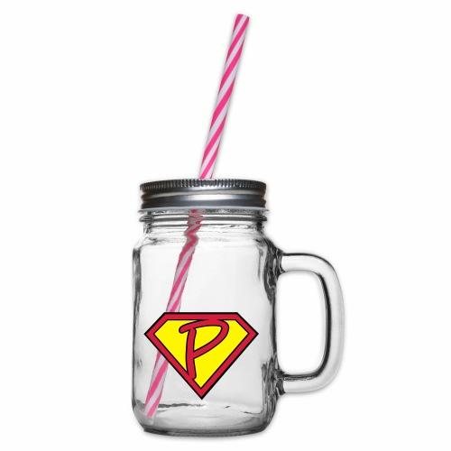 superp 2 - Henkelglas mit Schraubdeckel