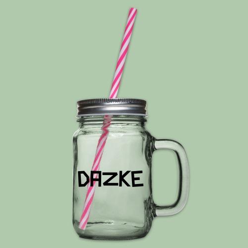 dazke_bunt - Henkelglas mit Schraubdeckel