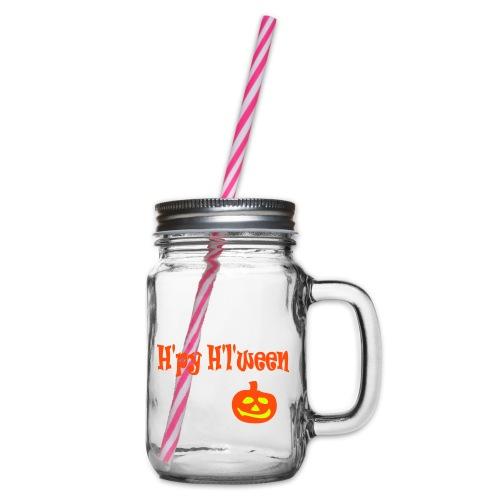 Happy Halloween - Henkelglas mit Schraubdeckel