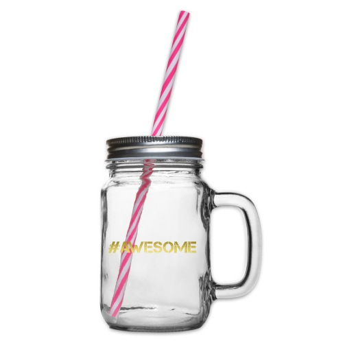 # AWESOME Design Gym Workout und Freizeit geeignet - Henkelglas mit Schraubdeckel