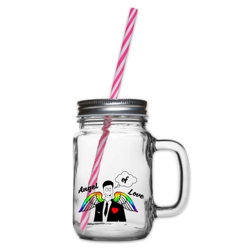 Angel of Love Regenbogen - Henkelglas mit Schraubdeckel