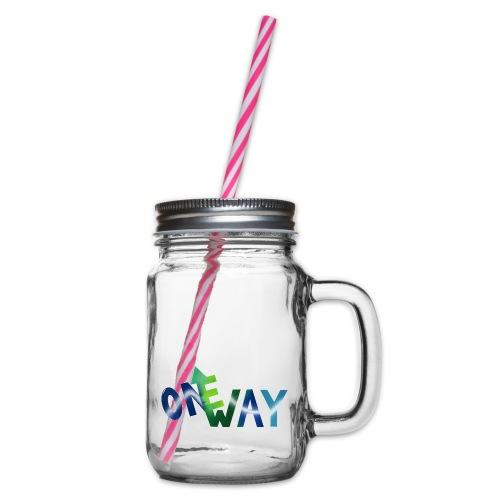 One Way - Henkelglas mit Schraubdeckel
