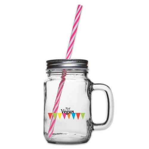 Not Vegan - Glass jar with handle and screw cap