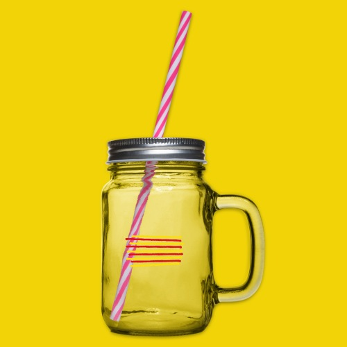 Catalonia Scratch - Glass jar with handle and screw cap