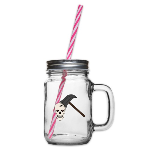 Skullcrusher - Henkelglas mit Schraubdeckel