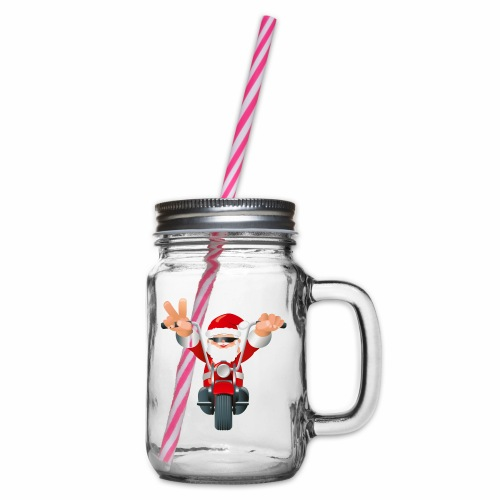 Father X-Mas - Glass jar with handle and screw cap