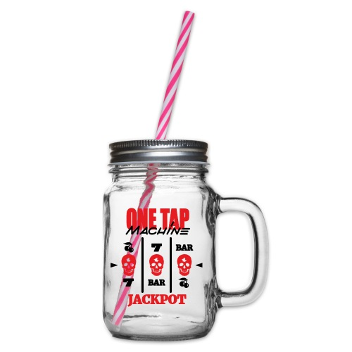ONE TAP MACHINE CS:GO - Glass jar with handle and screw cap