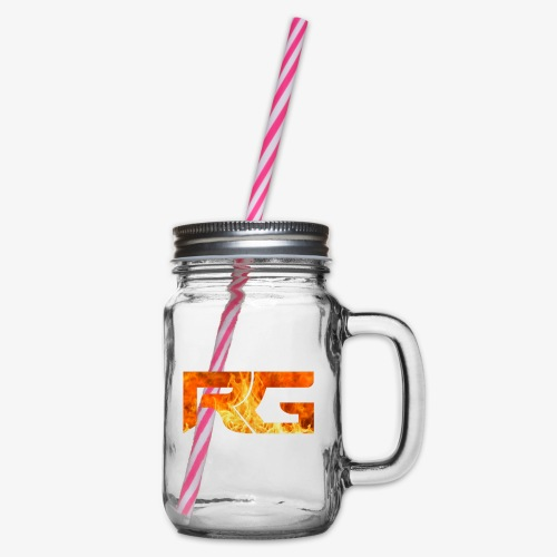Revelation gaming burns - Glass jar with handle and screw cap