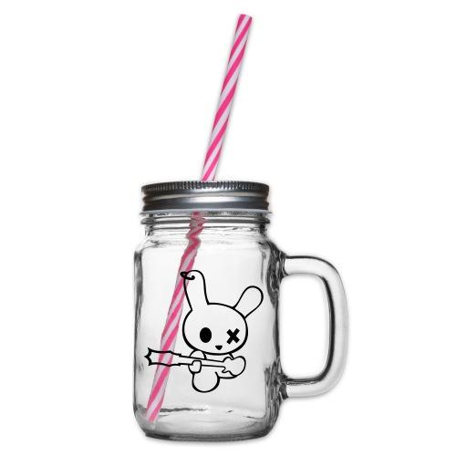 Rocking Bunny bunnies are the new rockstars hase - Henkelglas mit Schraubdeckel