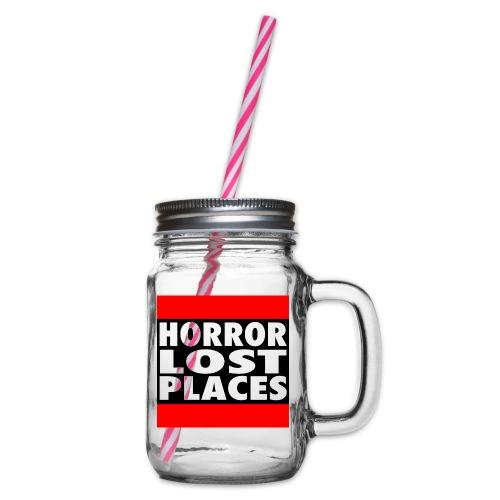 Horror Lost Places - Henkelglas mit Schraubdeckel