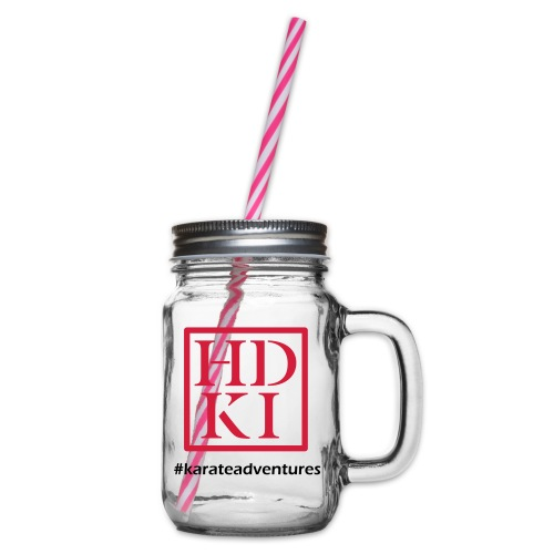 HDKI karateadventures - Glass jar with handle and screw cap