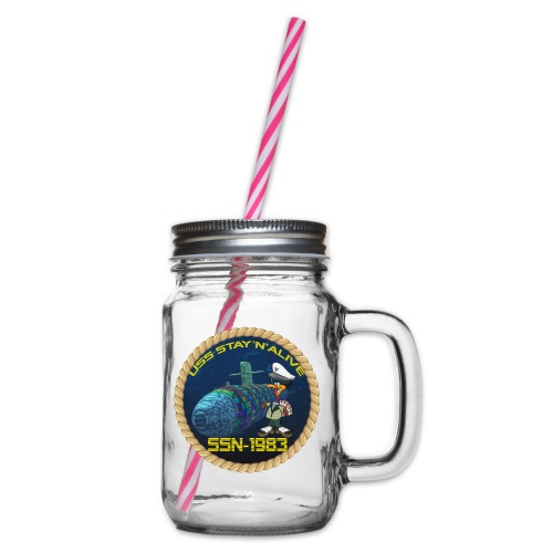 Command Badge SSN-1983 - Glass jar with handle and screw cap