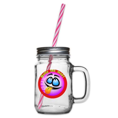 5D14BC46 196E 4AF6 ACB3 CE0B980EF8D6 - Glass jar with handle and screw cap