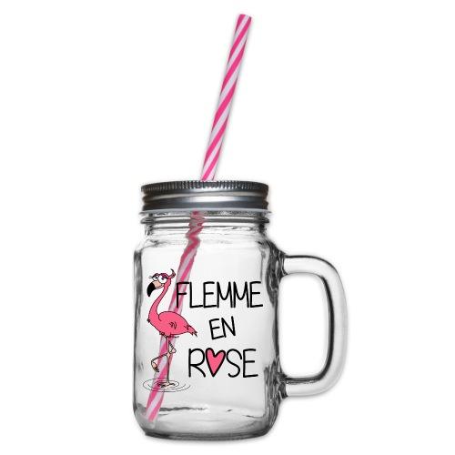 Flamant Rose / Flemme en Rose - Bocal à boisson