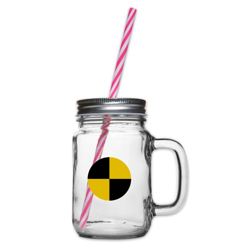 crash test - Glass jar with handle and screw cap