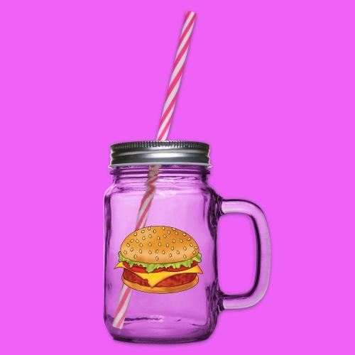 hamburguesa - Jarra con asa y tapa roscada
