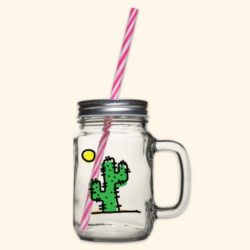 Cactus single - Boccale con coperchio avvitabile