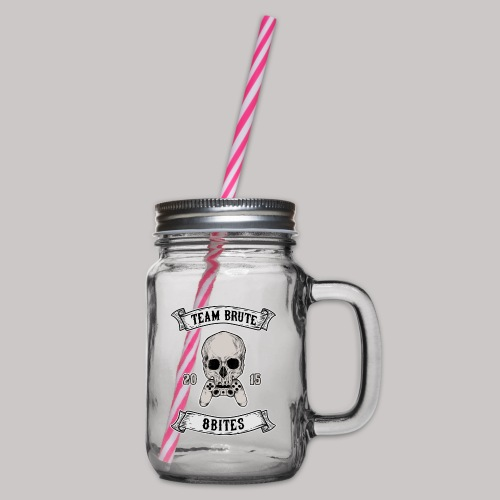 8 Bites MC no chain - Glass jar with handle and screw cap