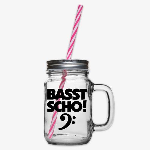 BASST SCHO! Bass Design für Bassisten - Henkelglas mit Schraubdeckel