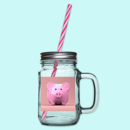 piggy - Glass jar with handle and screw cap