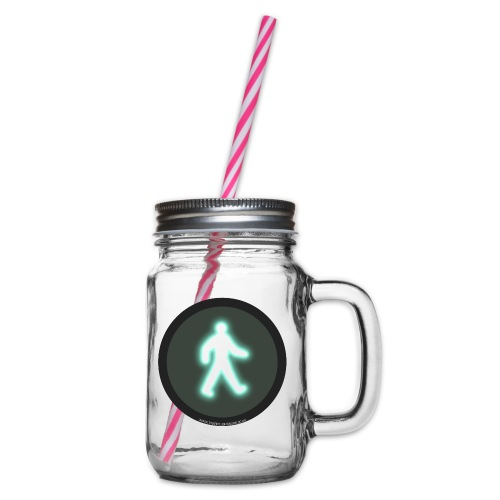 t4png - Glass jar with handle and screw cap