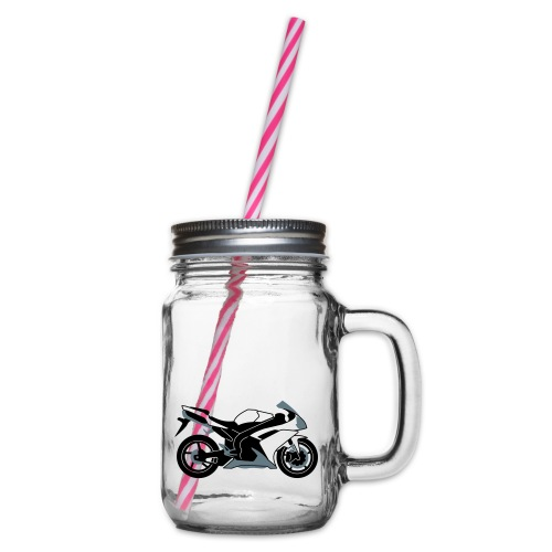 R1 07-on V2 - Glass jar with handle and screw cap