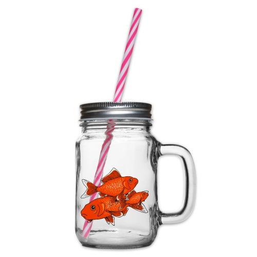 Poissons rouges - Bocal à boisson