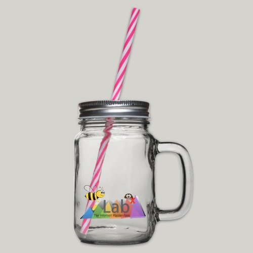 iLabX - The Internet Masterclass - Glass jar with handle and screw cap