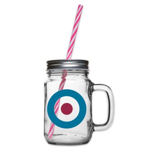 Mod Target - Henkelglas mit Schraubdeckel
