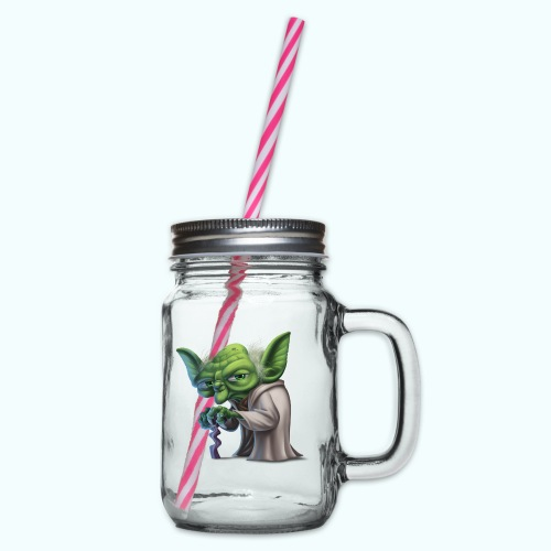 Little Gnome - Glass jar with handle and screw cap