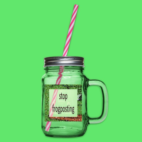 Frogposter - Glass jar with handle and screw cap