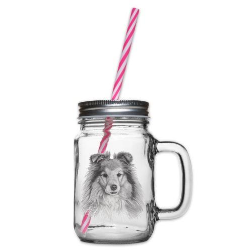 shetland sheepdog sheltie - Drikkekrus med skruelåg