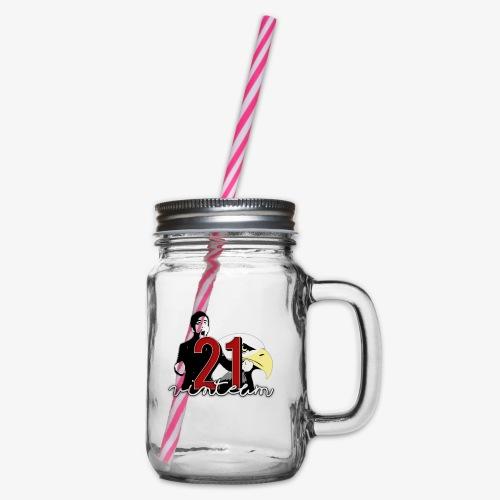 Vinte Um - Glass jar with handle and screw cap