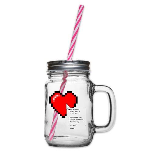 Options of the heart on a mug - Drikkekrus med skruelåg