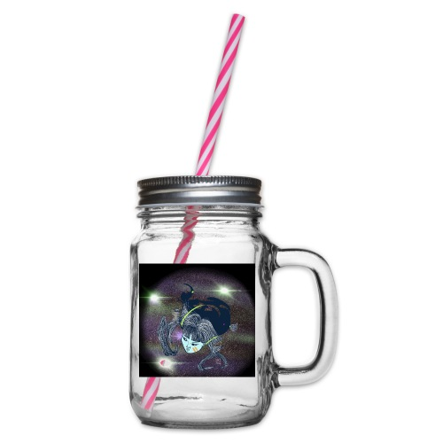 the Star Child - Glass jar with handle and screw cap