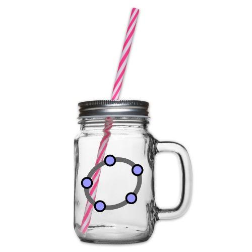 GeoGebra Ellipse - Glass jar with handle and screw cap
