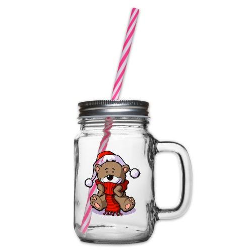 vl080b_winterbaer_4c - Henkelglas mit Schraubdeckel